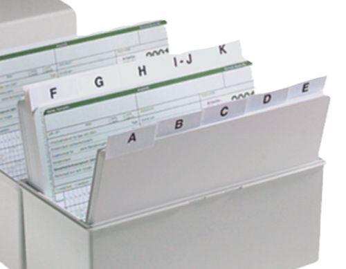 EICHNER A-Z Register A5 für Karteikästen Karteibox Karteikarten Karteikasten