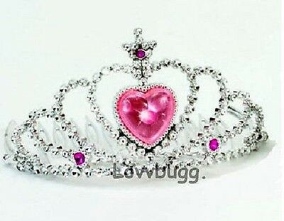 "Lovvbugg Tiara with Pink for 18"" American Girl Doll Doll Accessory"