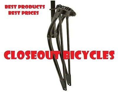 26  Beach Cruiser Springer 1  Threaded Fork Bike Cruiser Chopper Bicycle Black