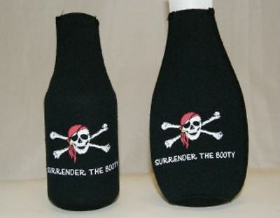 Jolly Roger Red Hat Pirate Surrender The Booty Bottle Jacket  (Red Pirate Jacket)