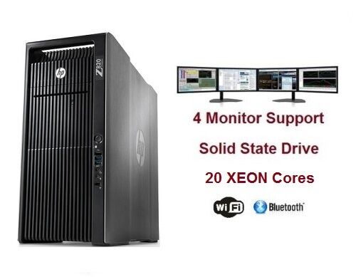 Hp Z820 Cad Workstaion Computer Pc 20 Core Amd Vega Frontier 16gb Hbm2 128gb Ram