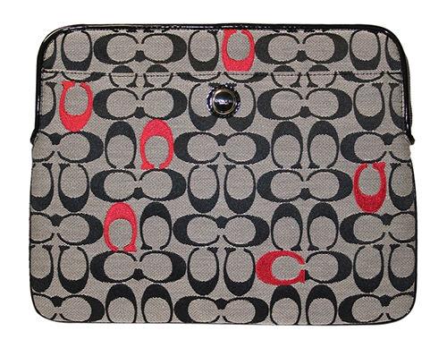 Coach Poppy Embroidered Signature Designer Laptop Case