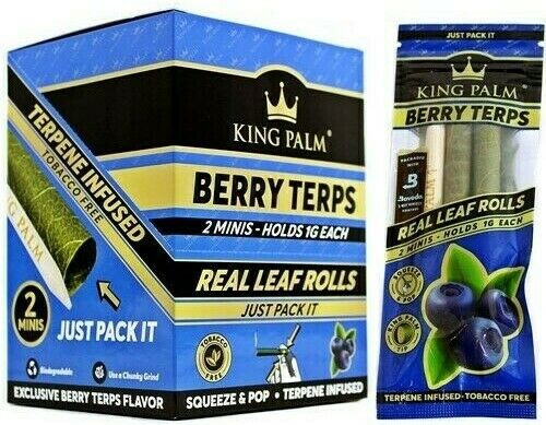6X KING PALM® WRAPS BERRY SQUEEZE & POP MINI SIZE 3 PACKS USA SELLER