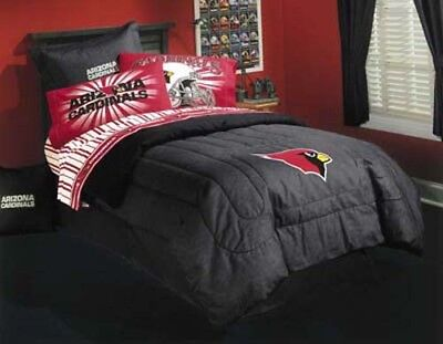 (Arizona Cardinals Twin Sheet Set-NFL II-Striped, Fits Twin Bed)