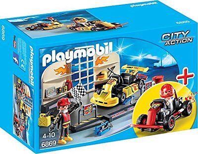 PLAYMOBIL StarterSet Gokart-Werkstatt Spielzeugfiguren Spielwelten Transport NEU