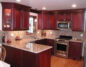 2 story house with 9 foot ceiling & hardwood floor in kitchen?