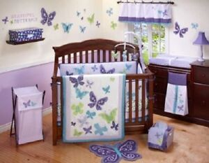 Beautiful Erfly 9 Pc Crib Bedding Set Lavender Nojo Discontinued