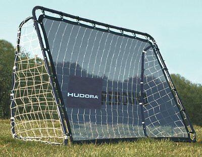 HUDORA 76099 - Fußballtor / Tor Rebound mit Reboundset 213 x 152 x 76 cm