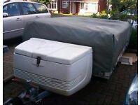 trailer tent. 8 birth. inc kitchen/loo .......