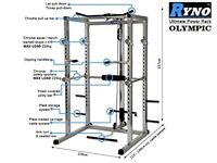Ryno Squat Rack/Multi Gym with various attachments included