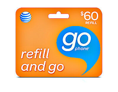 AT&T Go phone $60 Refill Card