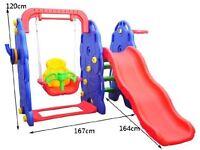 NEW IN BOX, kids Playground, swing , slide , basketball hoop