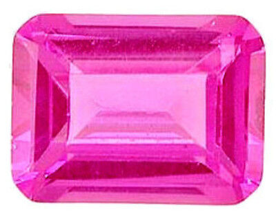 11x9 mm 6.7 cts octagon cut lab created Pink Sapphire