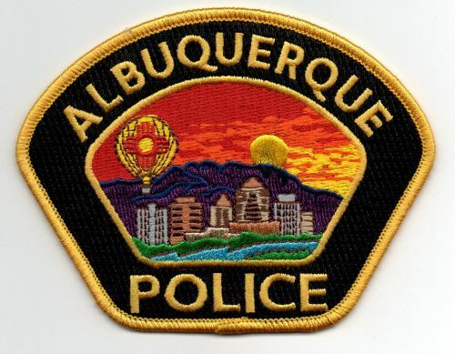 NEW MEXICO NM ALBUQUERQUE POLICE NICE PATCH SHERIFF BLACK AND GOLD BORDER
