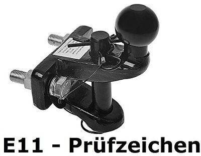 Zugmaul 3,5t Anhängerkupplung Kugelkopf Maulkupplung Traktor Quad Kombikupplung