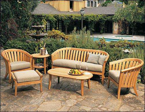 Lenong A-grade Teak Wood 6 Pc Outdoor Garden Patio Sofa Lounge Chair Set New
