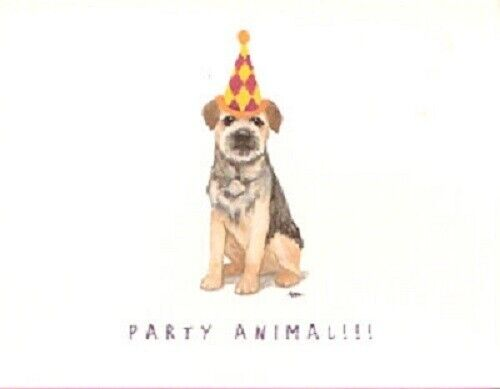 Border Terrier Notecards Note Cards Party Animal LAST ONE!