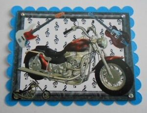 PACK-2-GUITAR-AND-MOTOR-BIKE-TOPPERS-FOR-CARDS-AND-CARDS-10-THEMES-TO-CHOOSE