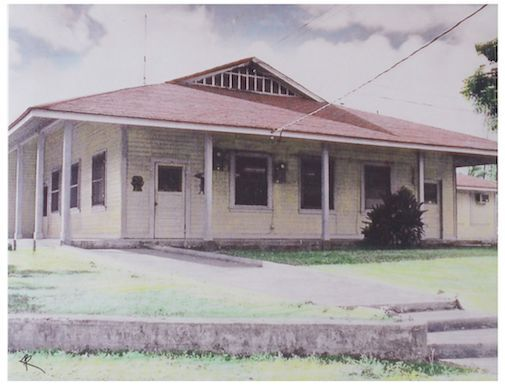 KAHUKU HOUSING CORP? BUILDING 8.5 x 11 INCH UNMOUNTED BORDERLESS-HAND COLOR