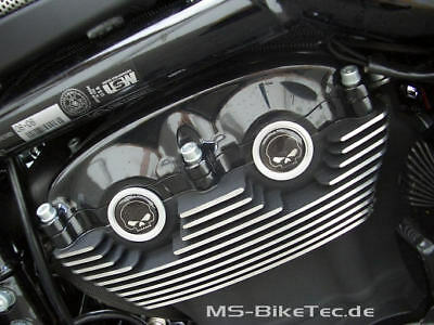 Cam Cover black skull Harley V Rod + Night Rod Special + Muscle ()