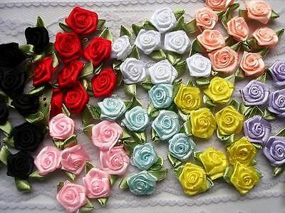 70 Satin Ribbon Rose 1