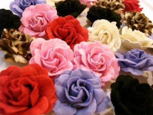 "Sale~20 Felt Rose 4D Flower Brooch 2"" Applique/Bow/Trim/Craft/Sewing H165-Color"