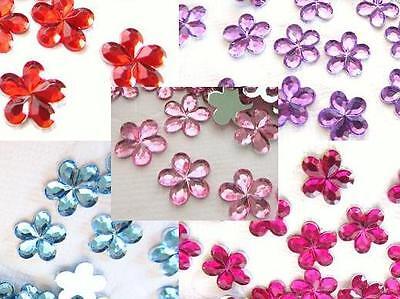 100 Flower Jewel Rhinestone 10mm Craft/Bling/Pink/Red/Blue/Purple E58 Pick Color](E Craft)
