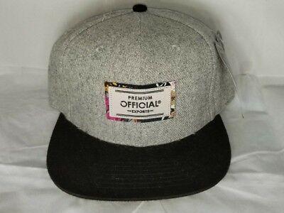 Official Mens Brushed Twill Exports Strapback Cap Hat grey/blk $32 Adjustable Brushed Twill Hat