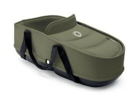 Bugaboo Bee 3 or 5 Carrycot and bassinet with adaptors khaki colour - VGC