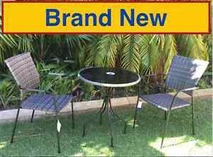 Brand New Bistro Wicker Outdoor Setting 3 Piece Attadale Melville Area Preview