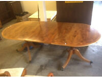 yew and satin wood dinning table