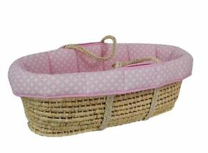 Wicker Bassinet With Wooden Stand
