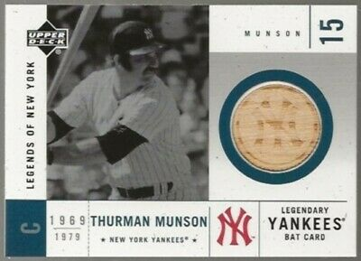 2001 Upper Deck Legends of NY Game Bat Thurman Munson Yankees