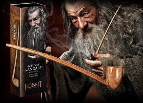 """THE HOBBIT LOTR PIPE OF GANDALF OFFICIAL FUNCTIONAL PROP REPLICA 9"""" BRAND NEW"""