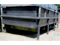 Koi /Fish Pond 1500 gallons Freestanding Custom Made, Heavy duty fibreglass with bottom drain