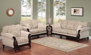 WHITE SHOW WOOD SOFA SET SALE ( ND 97)