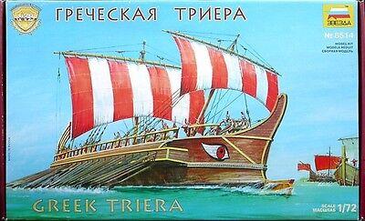 ZVEZDA 8514 Greek Triera / Trireme Ancient Warship / Scale Model Kit 1/72