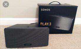 Sonos Play 3 with wall bracket