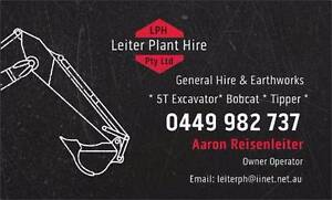 Leiter Plant Hire  - Excavator Bobcat combo. Mango Hill Pine Rivers Area Preview