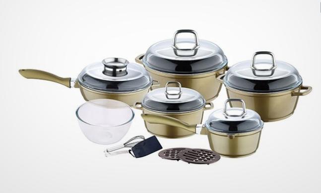 Batterie de cuisine ModelHome 15 pieces/Prix Magasin 199,50- euro!