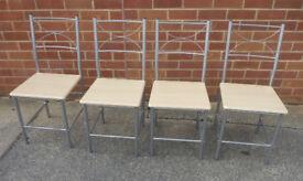 x4 Lightweight Metal Framed Dining Chairs