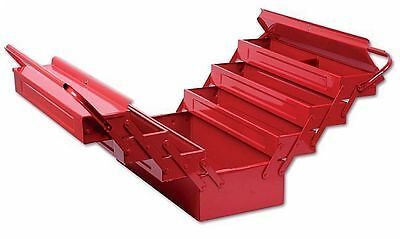 17 Cantilever Tool Box - RED STEEL METAL Tool BOX Cantilever WITH 7 Tray BOX 17