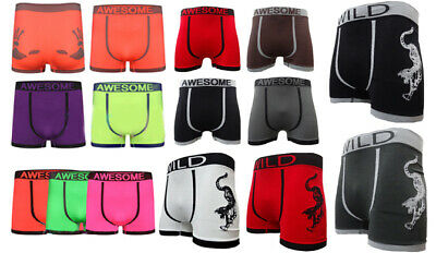 New 3 Pack Mens Boxers Seamless Boxer Shorts Trunks Underpant Briefs Underwear