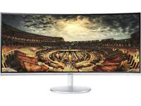 "Samsung CF79 Series 34"" Monitor C34F791WQU LED LCD CURVED MONITOR 3440x1440 HDMI USB"