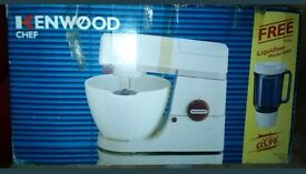 KENWOOD CHEF A901 MIXER AND LIQUIDISER, BOXED
