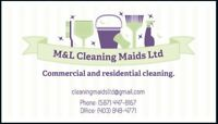 M&L Cleaning Maids Ltd . Commercial and Residential  Cleaning