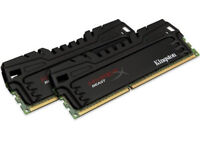 HyperX Beast 8 GB (2x4 GB) Matched Pair DDR3 1600 MHz CL9 Desktop Memory Kit Black