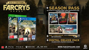 Far cry 5 Gold edition with season pass  for XBOX one