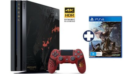 PS4 Pro 1TB Console Monster Hunter World Rathalos Edition + Game