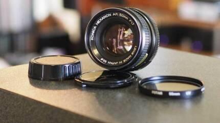 Manual prime lense clean out - Minolta/Yashica/Konica/Pentax